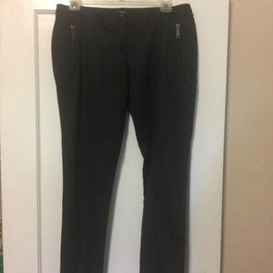 Burberry Charcoal Gray Wool Trousers US 14 UK 16